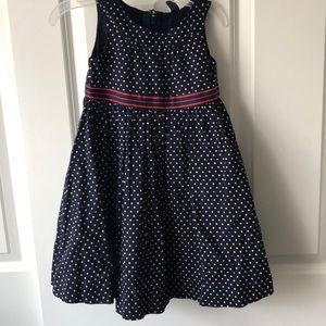 Girls GAP Navy/white Polka Dot Dress